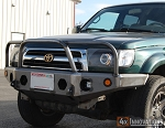 96-02 4 Runner Front Plate Bumper with Grill Guard