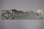 4x Innovations Logo Plate