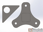 Tire Carrier Wheel Mount Plate and Support Gusset