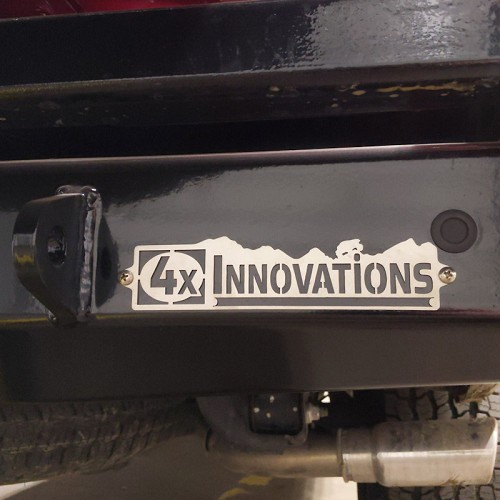 4x Innovations Logo Plate - 304 Stainless Steel